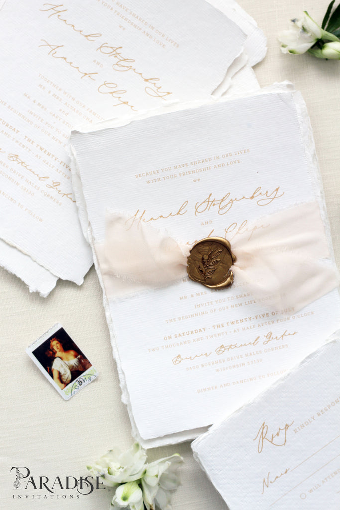 Apollina Handmade Paper Wedding Invitations