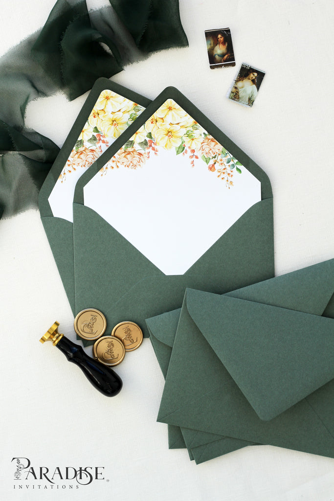 Yellow Floral Envelope Liners