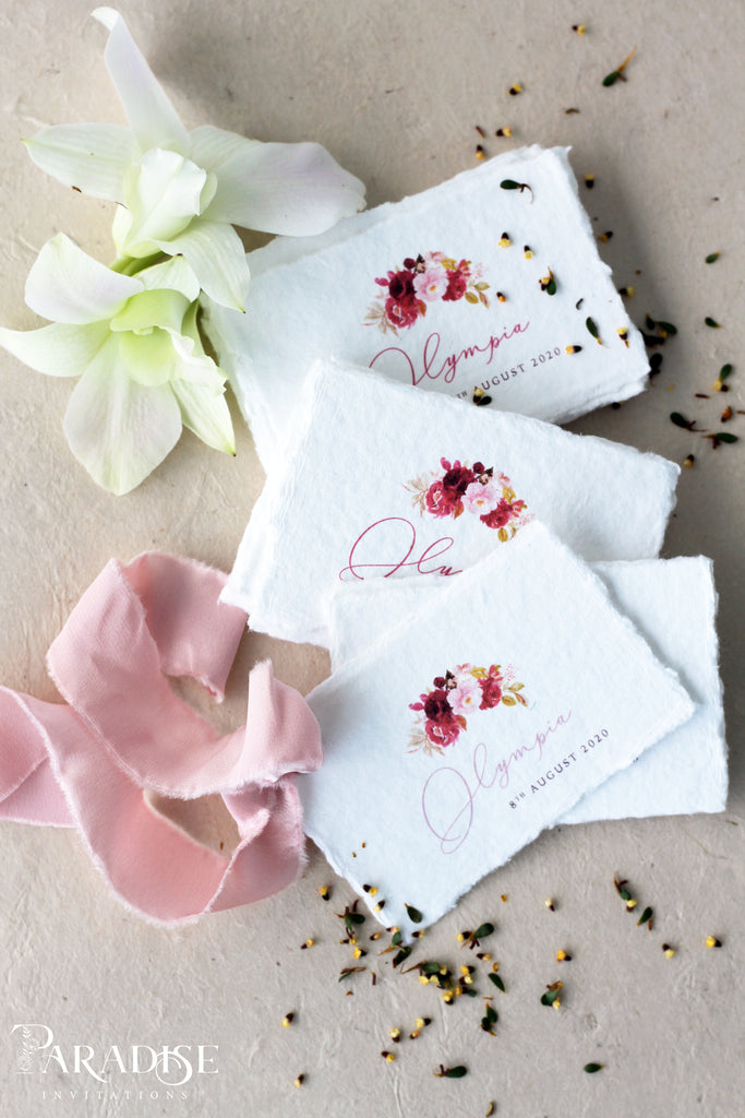 Floral Handmade paper Tags