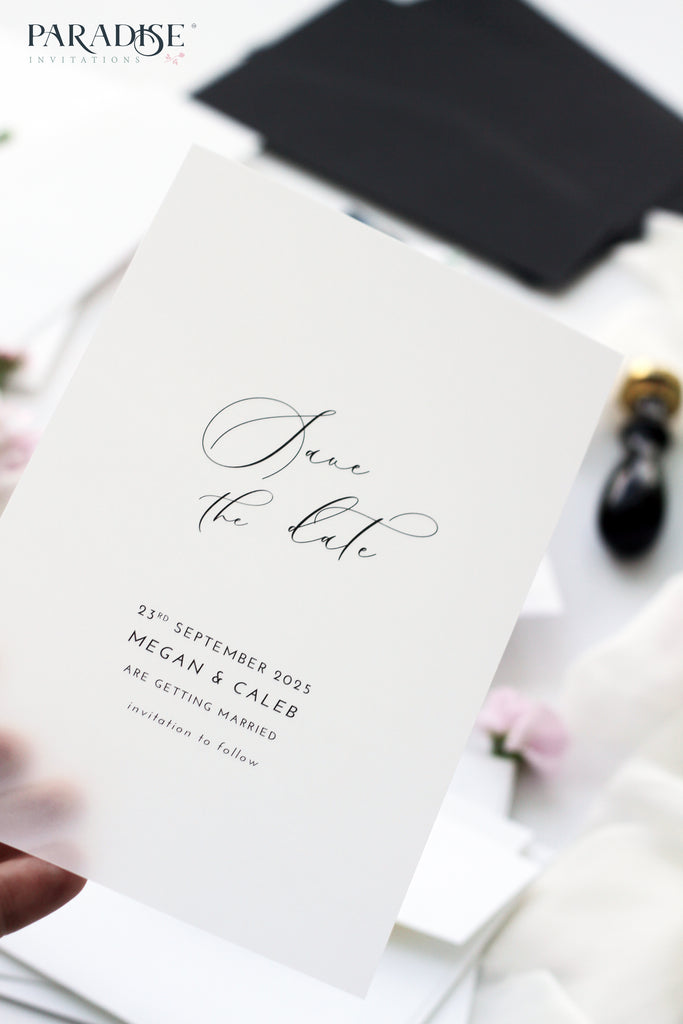 Yvette Elegant Vellum Save the Date
