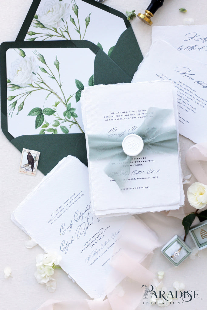 Camilla Handmade Paper Wedding Invitation Sets