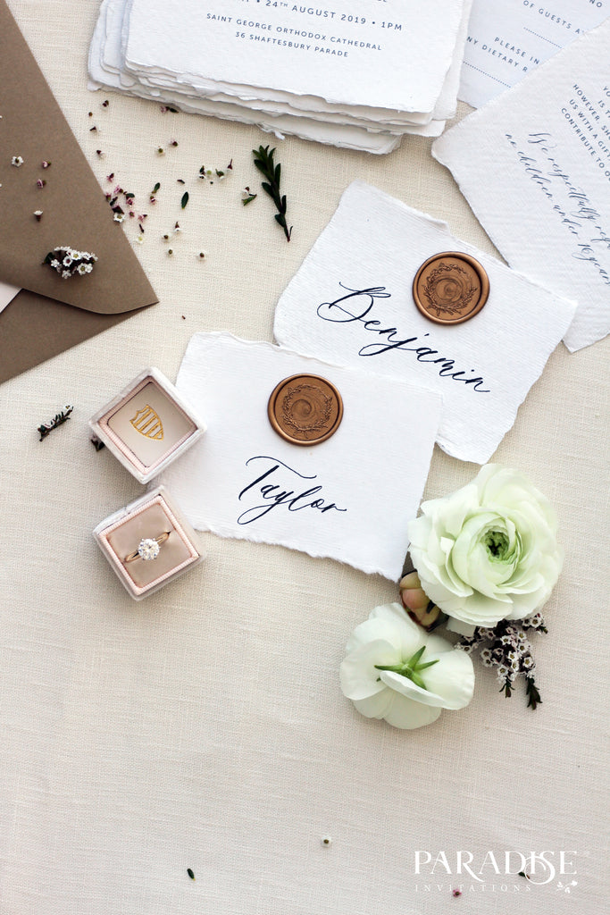 Colette Handmade Paper Place Card