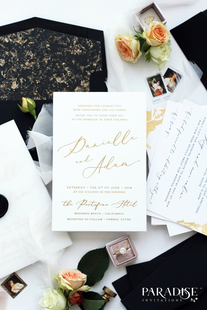 Sydney Elegant Calligraphy Wedding Invitation