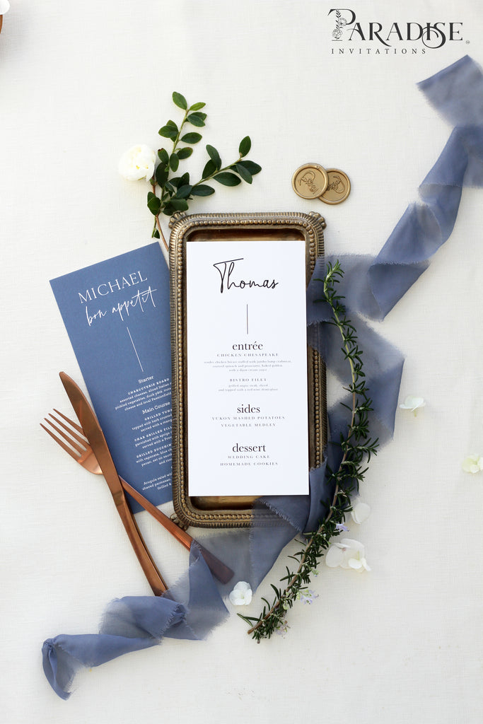Maurin Modern Wedding Menu