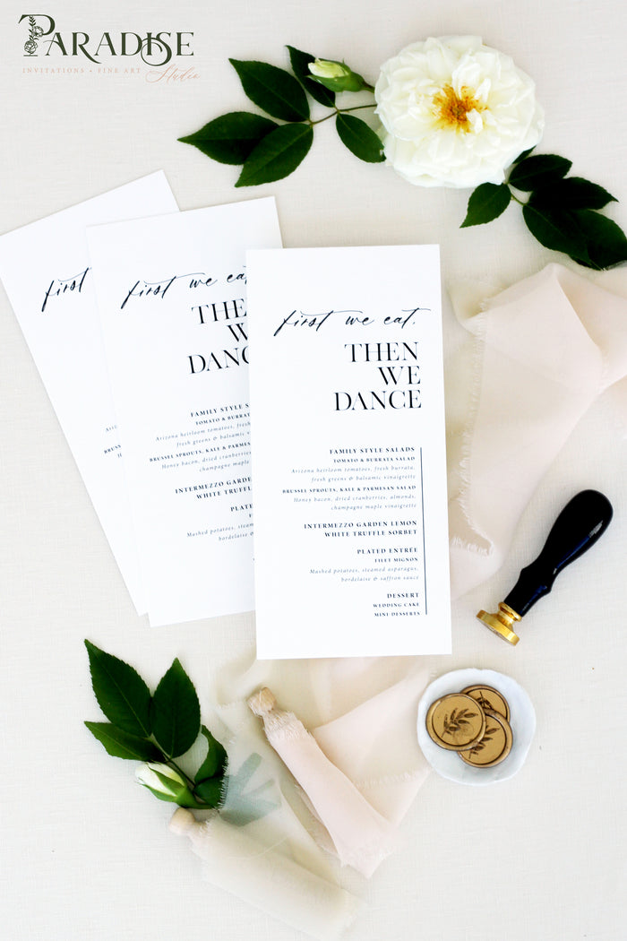 Brea Modern Wedding Menus