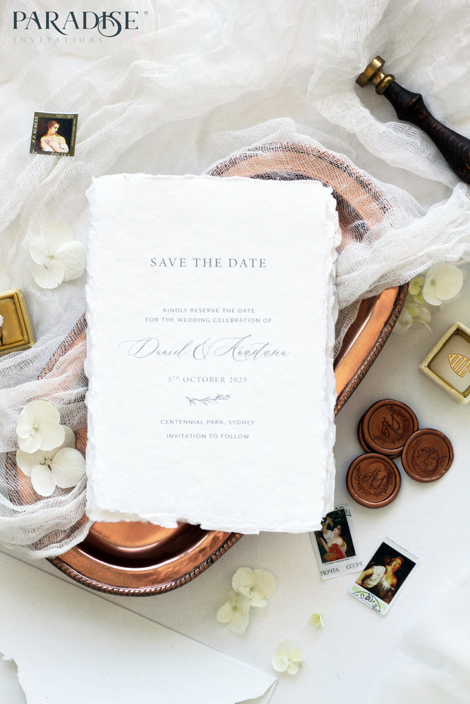 Aelicia Handmade Paper Save the Date
