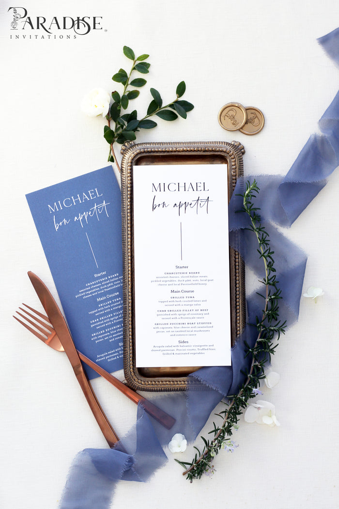 Merryl Elegant Wedding Menu