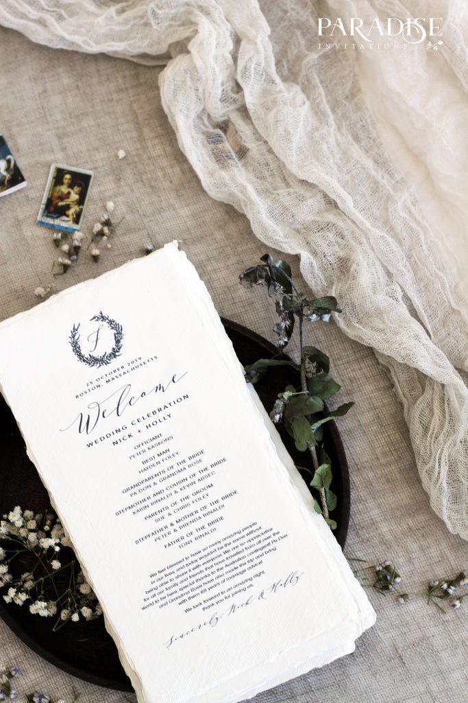 Devonne Monogram Wedding Program