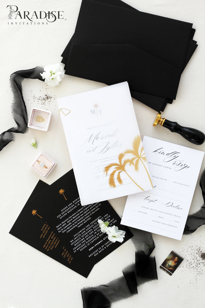 Mara Tropical Wedding Invitation Sets