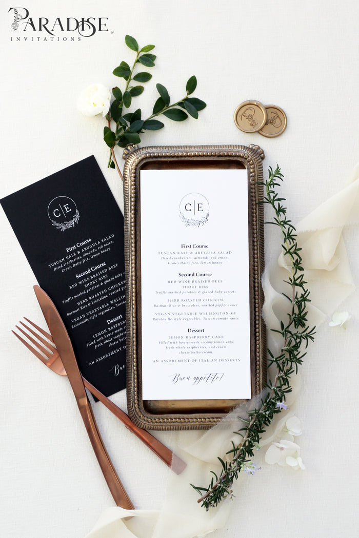 Mignon Elegant Wedding Menu