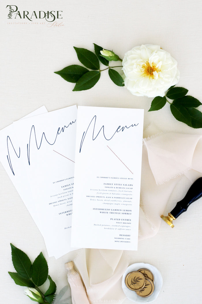 Britta Modern Wedding Menus