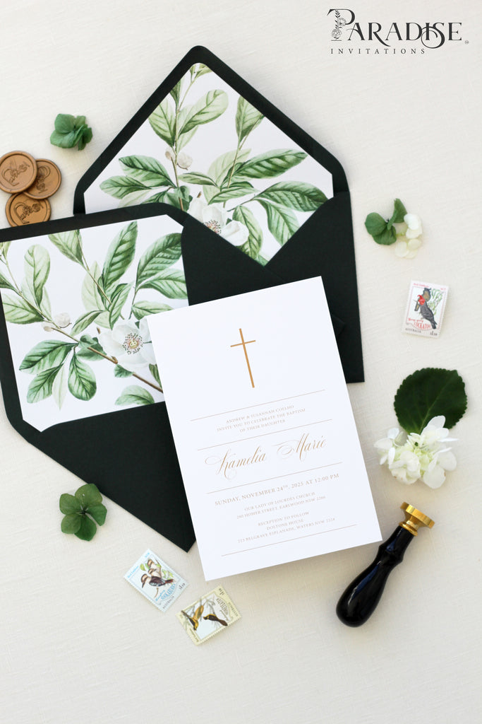 Harriet Calligraphy Christian Invitation