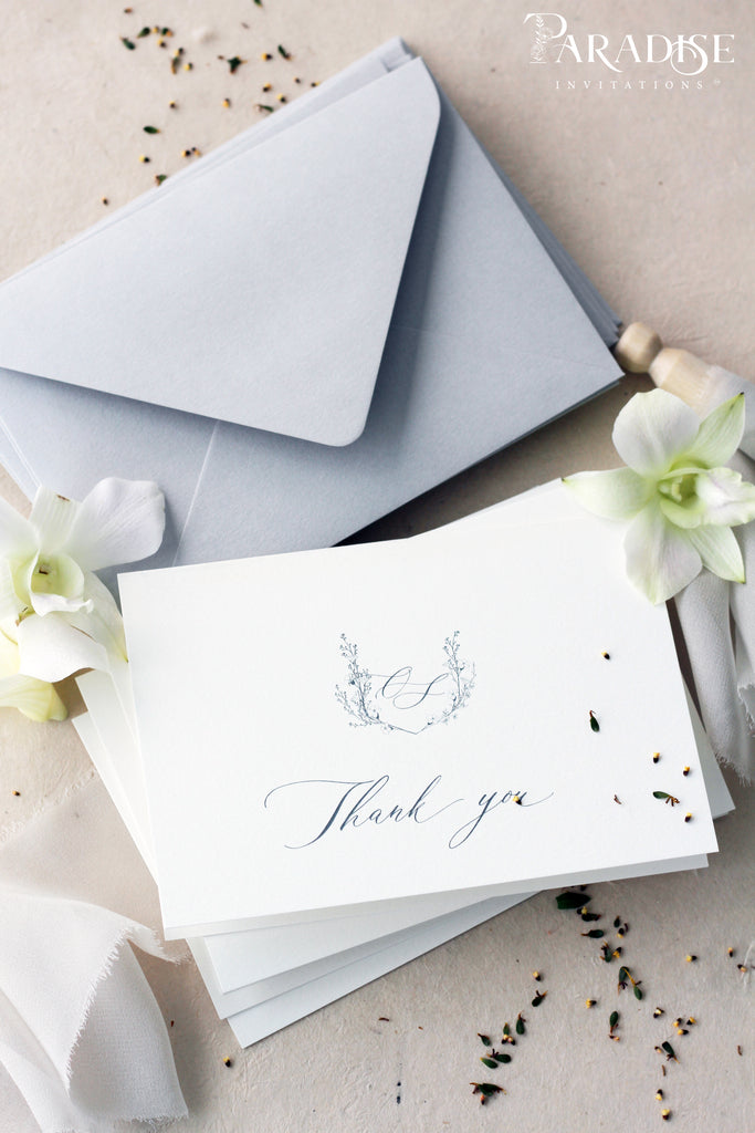 Adilene Monogram Thank You Cards