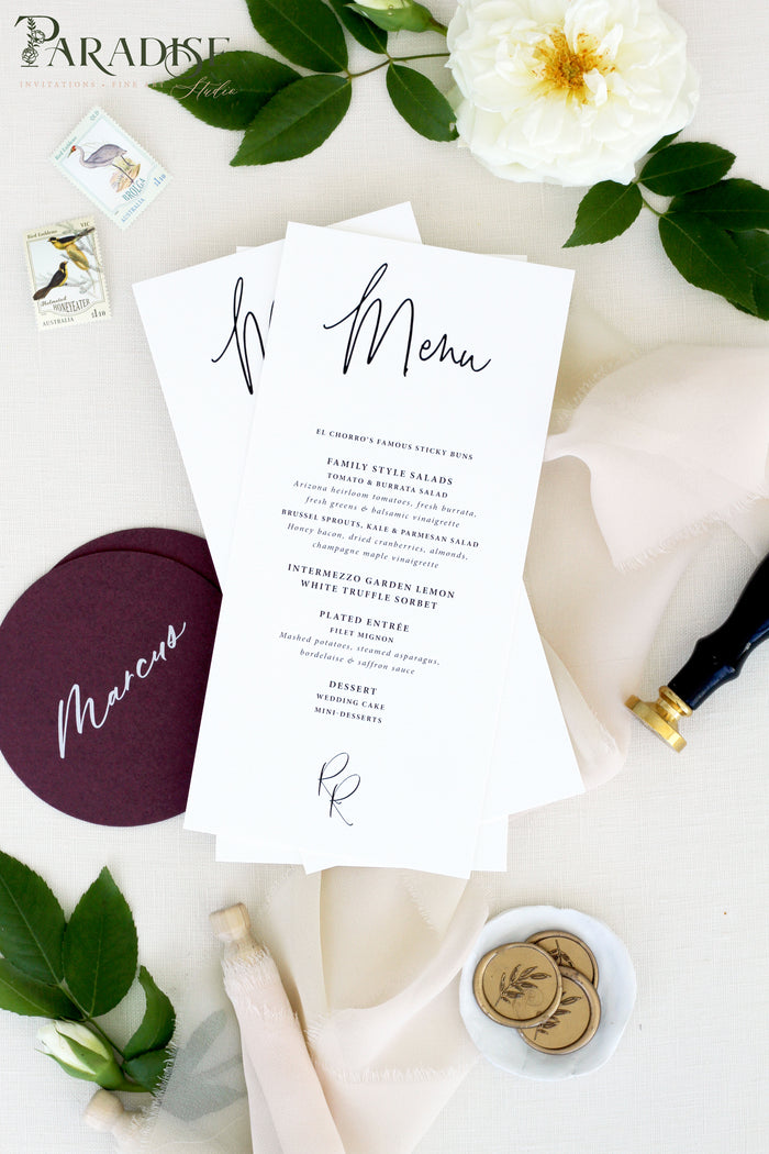 Calla Modern Wedding Menus