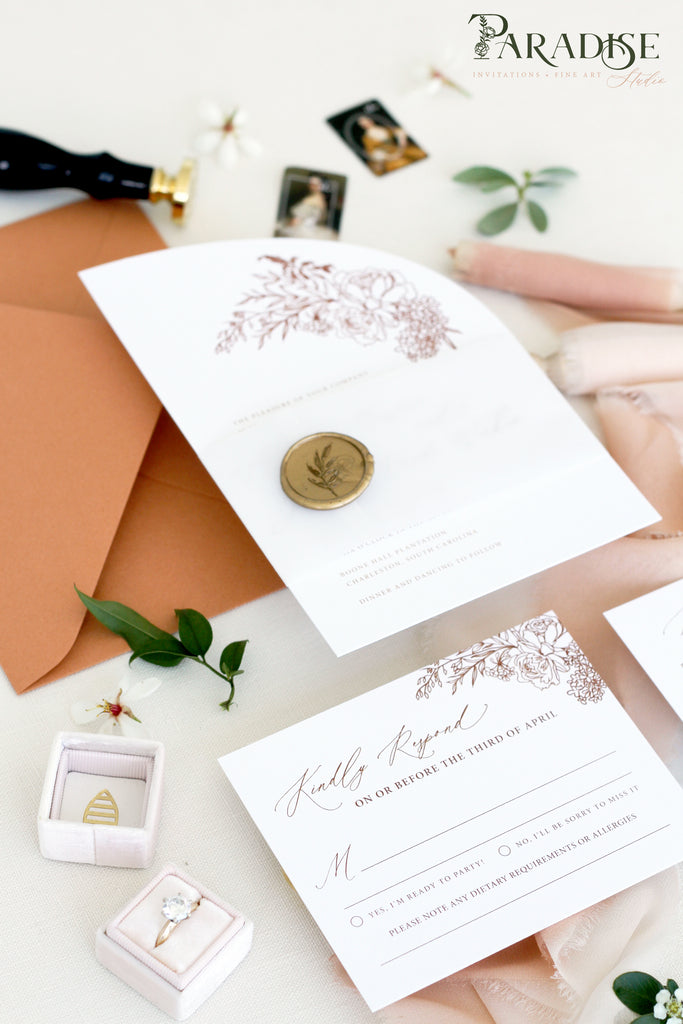 Calliope Bohemian Wedding Invitation