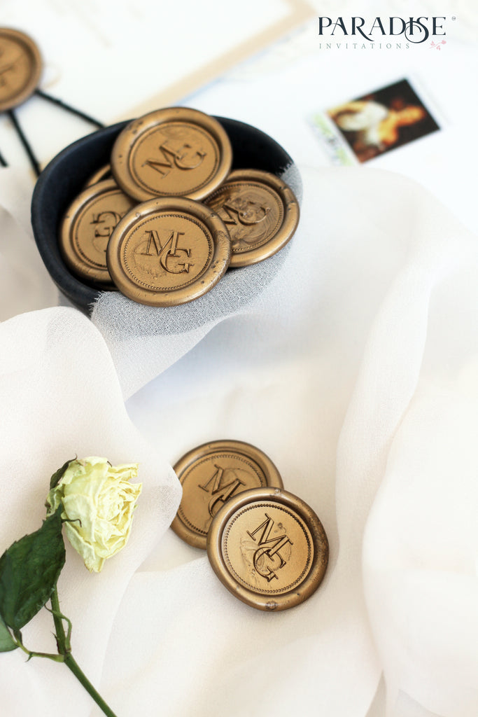 Custom Golden Luxury Wax Seals