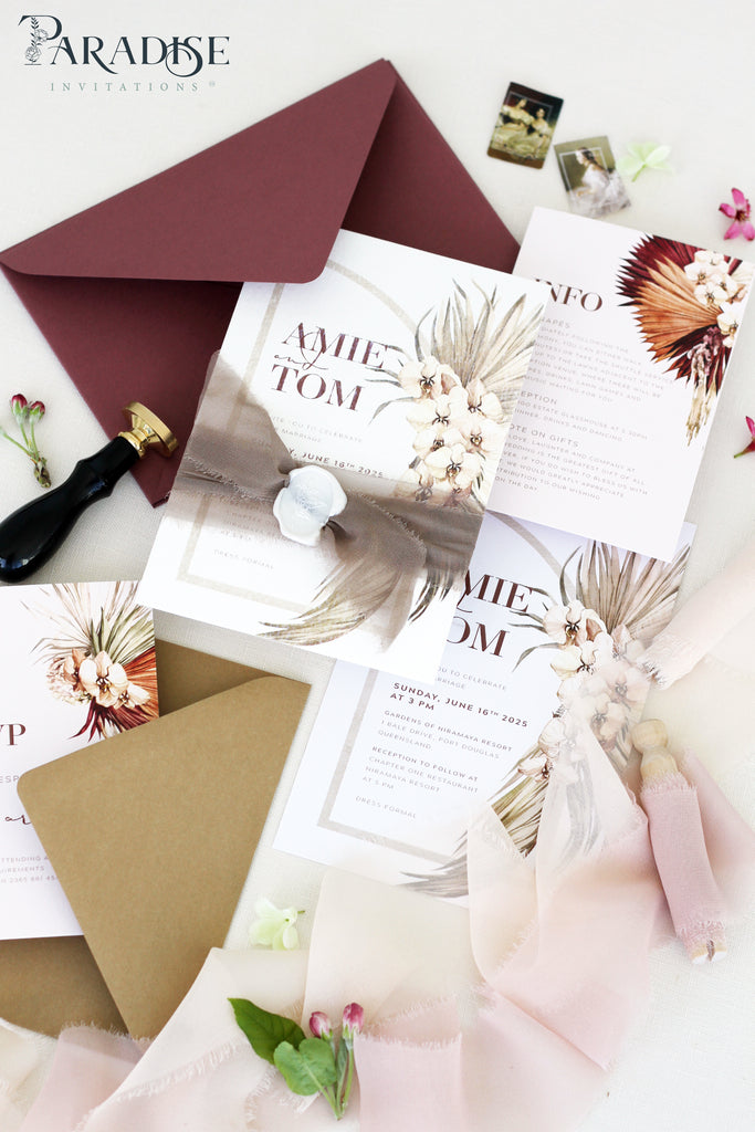 Athena Bohemian Wedding Invitation Sets