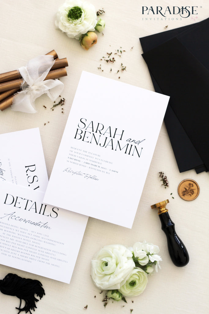 Justyne Bohemian Style Wedding Invitations