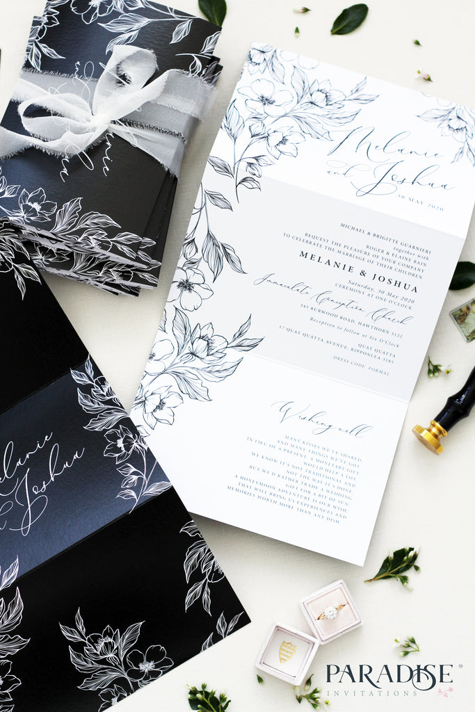 Elicia Concertina Wedding Invitation