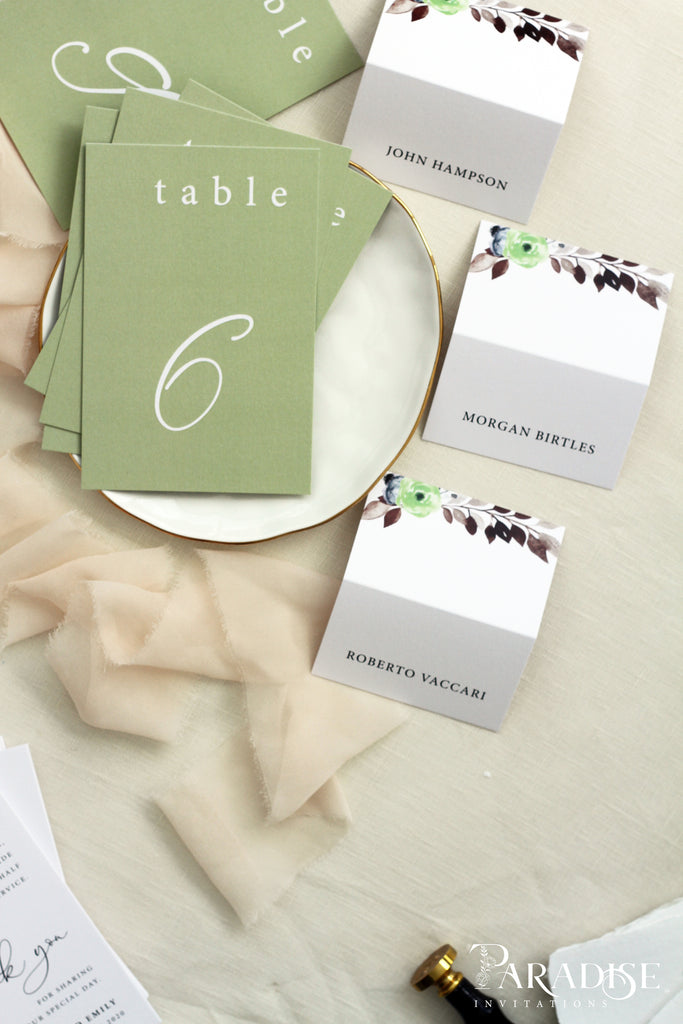 Marchelle Green Table Numbers