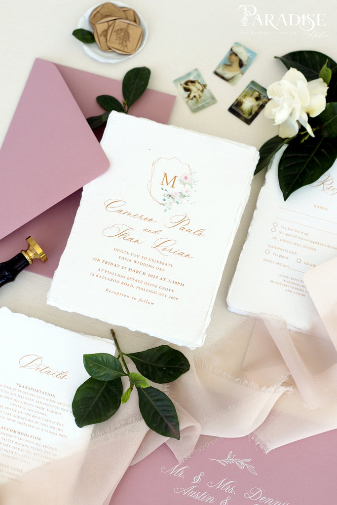 Diem Handmade Paper Wedding Invitation Sets