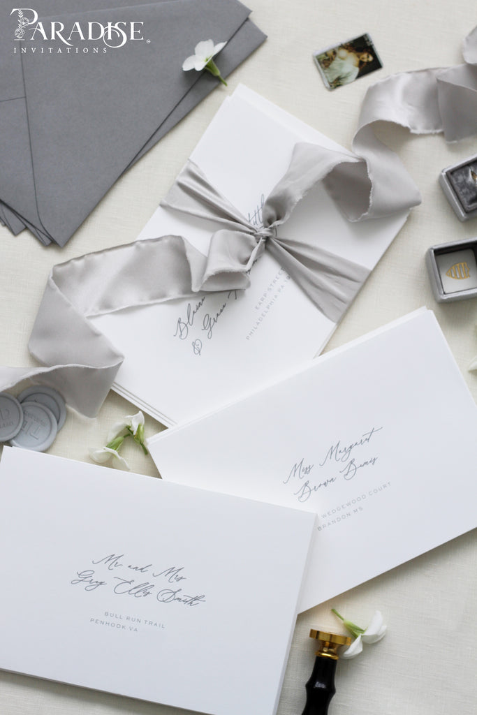 White Envelopes Black Ink Address printing
