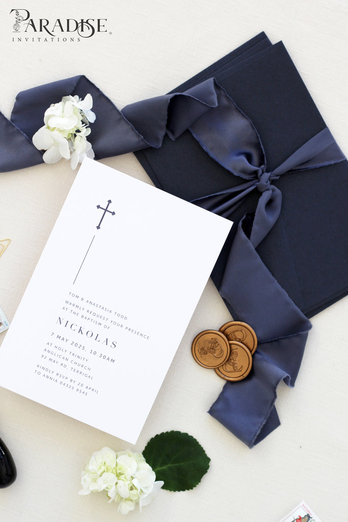 Jacinthe Modern Christian Invitations