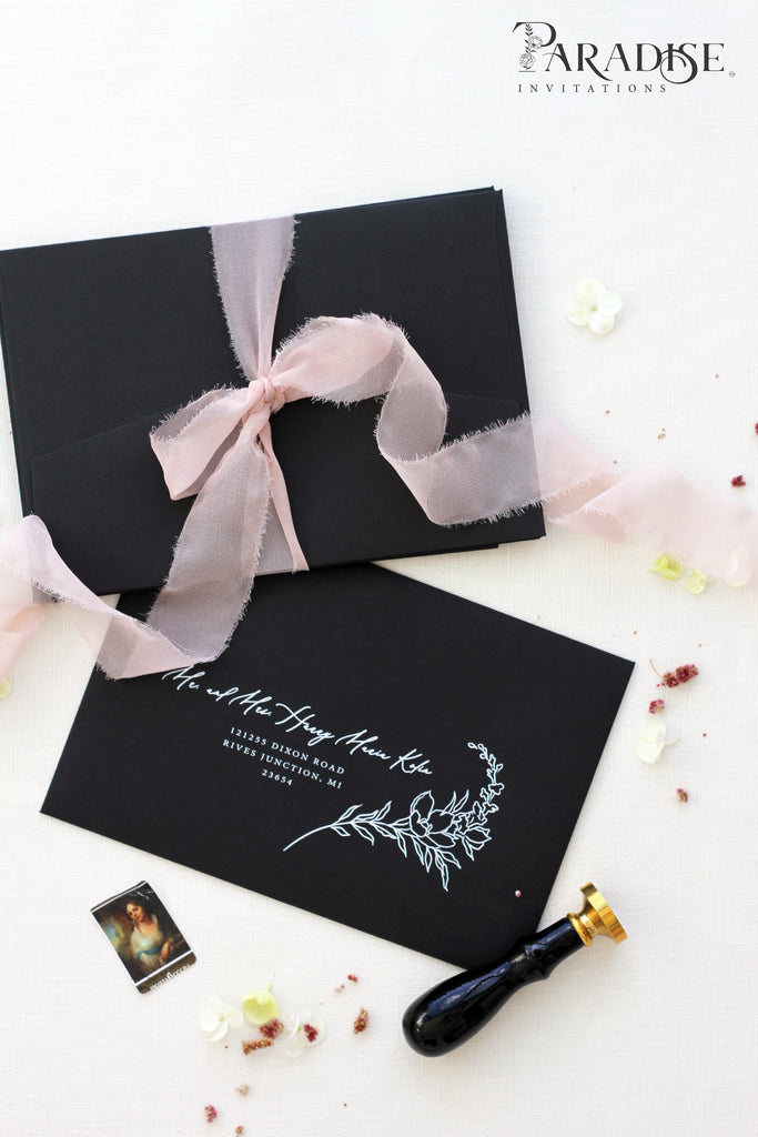 White Ink Printing on Black Envelopes