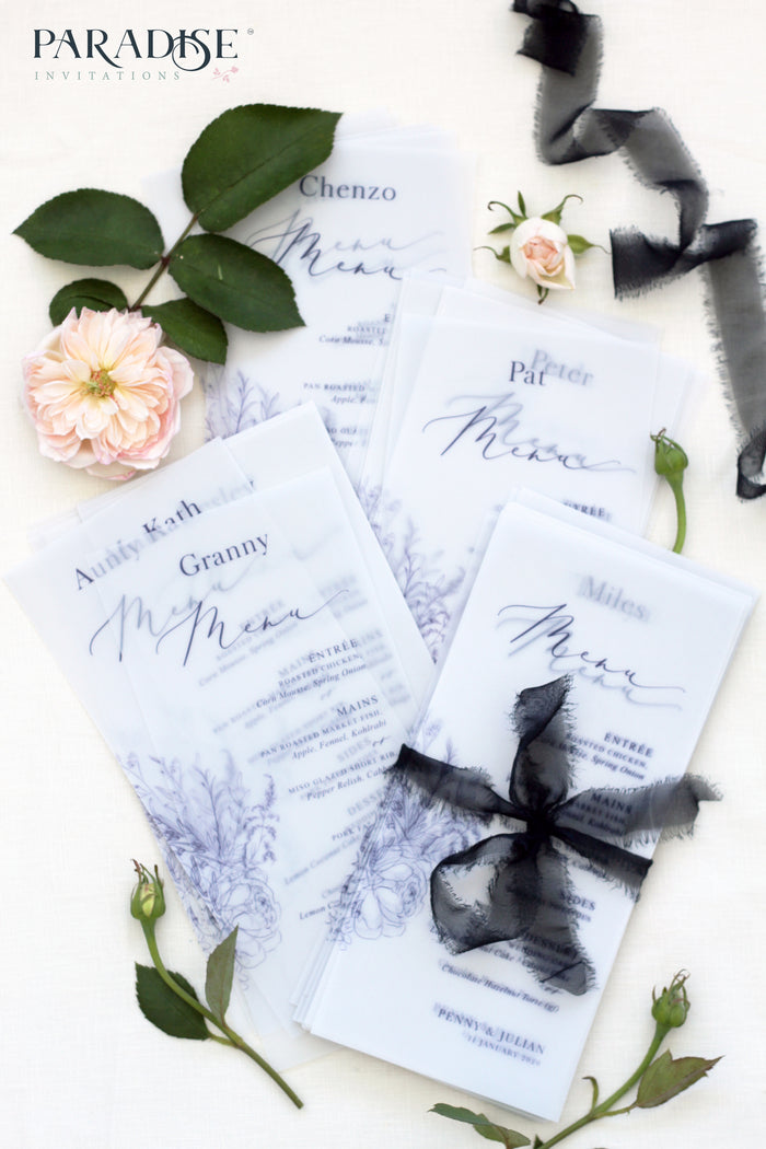 Rosselin Vellum Wedding Menus