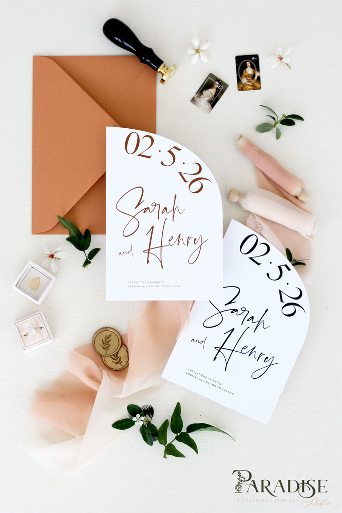 Antonia Bohemian Save the Date Cards