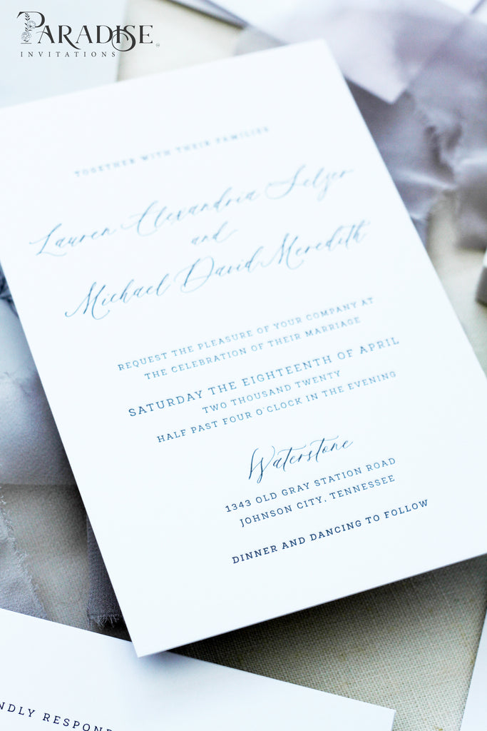 Manon Wedding Invitations, Letterpress
