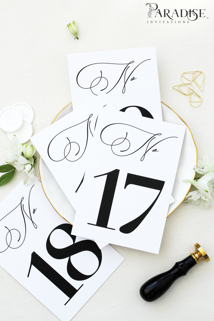 Cecille Modern Table Numbers