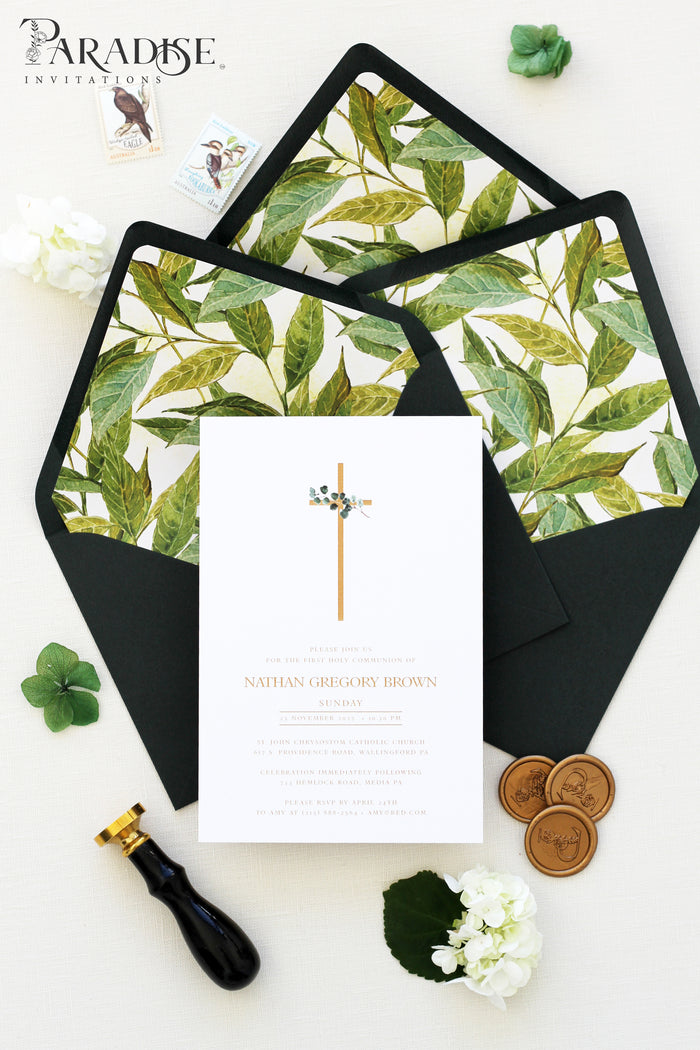 Jeanie Greenery Christian Invitation