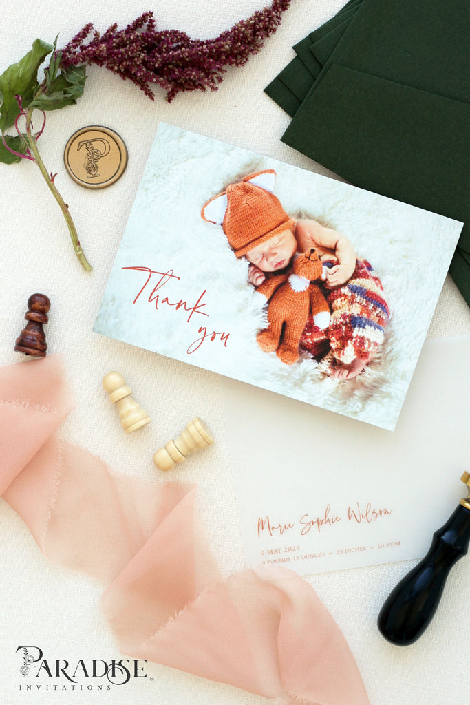 Linette Birth announcements, Digital or Printed Baby Announcement, Thank you Baby Cards