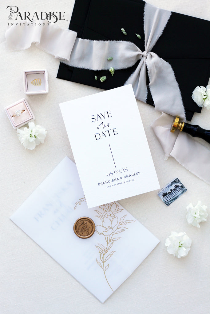Magnolia Elegant Save the Date Cards