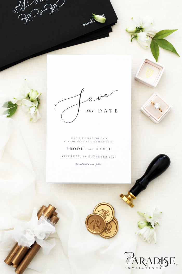 Charlotta Calligraphy Save the Date