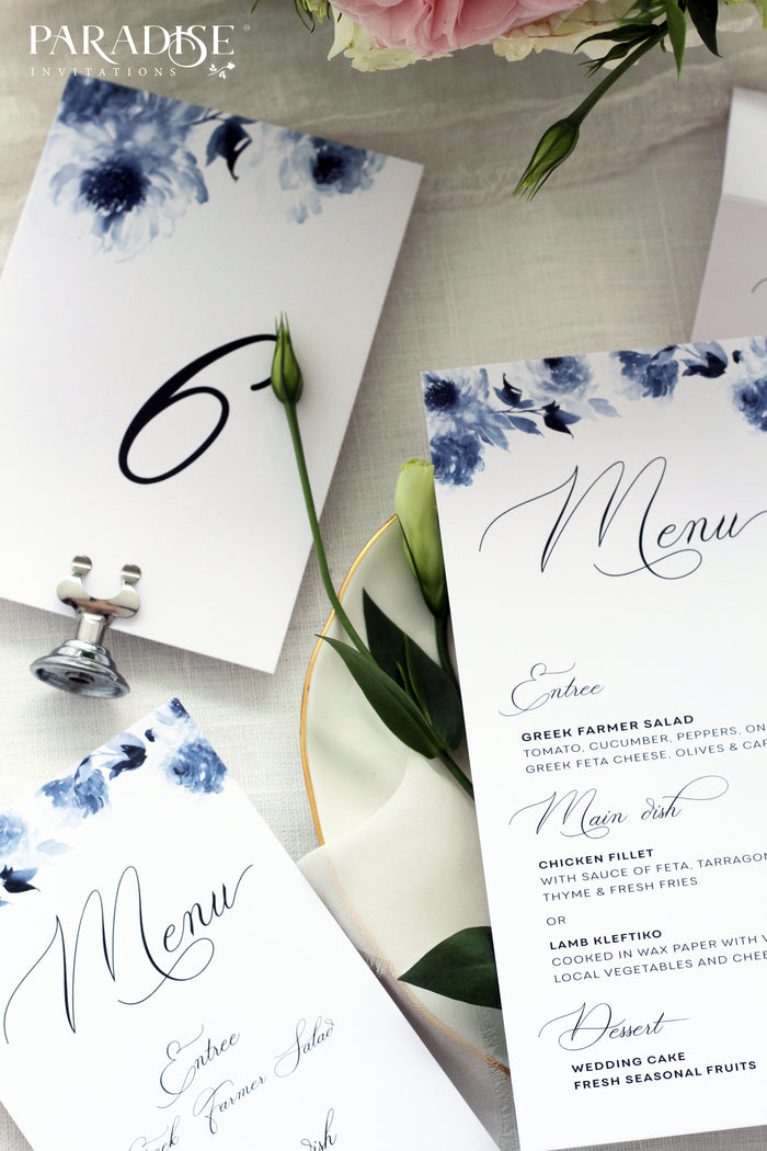 Clesia Watercolor Floral Table Numbers
