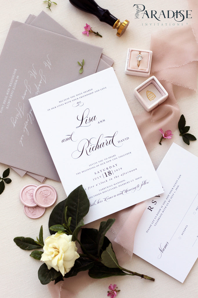 Camila Calligraphy Wedding Invitation Sets