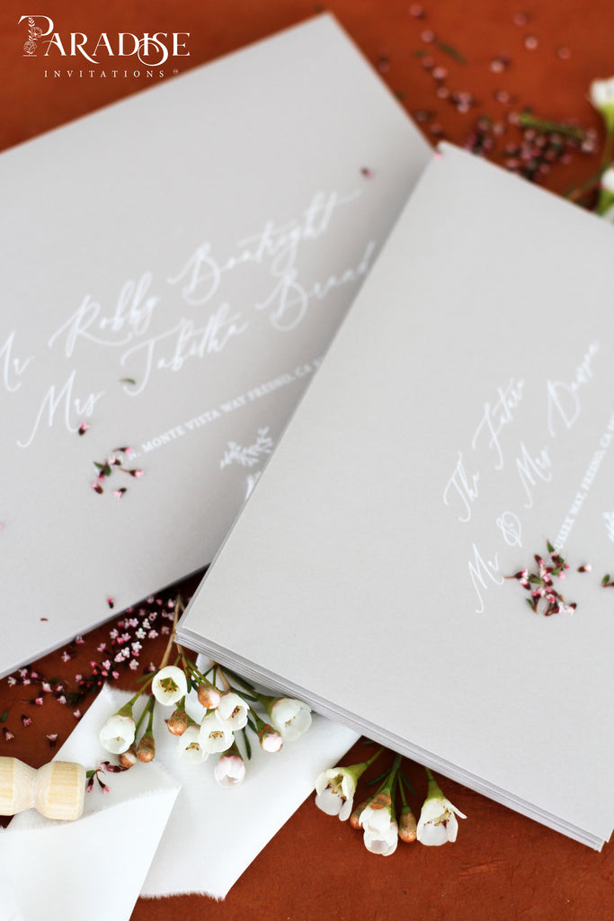 Birch envelopes White Ink address printing