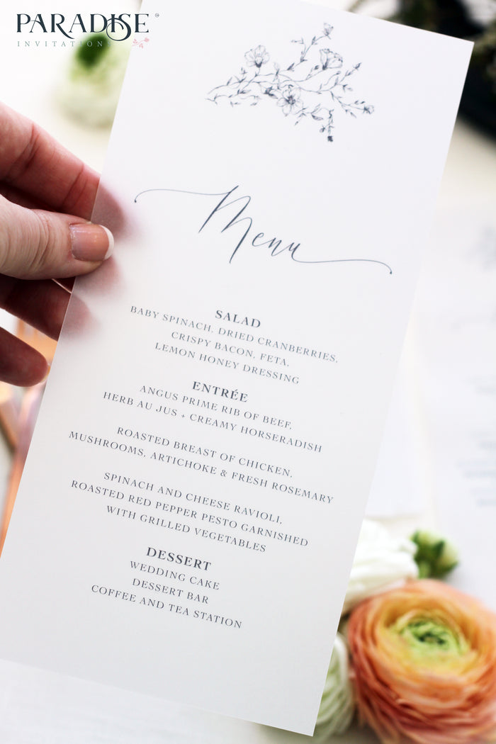 Maiya Vellum Wedding Menus