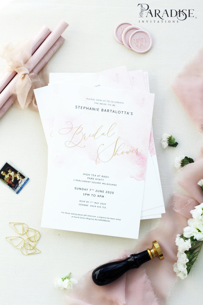 Charmaine Blush Bridal Shower Invitations
