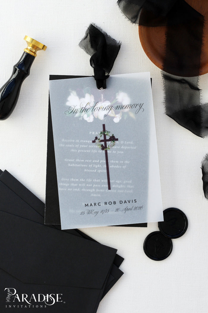Bereavement Card #011, Memorial Card, Celebration of Life, Funeral Poem Card, Printed Cards or Digital File