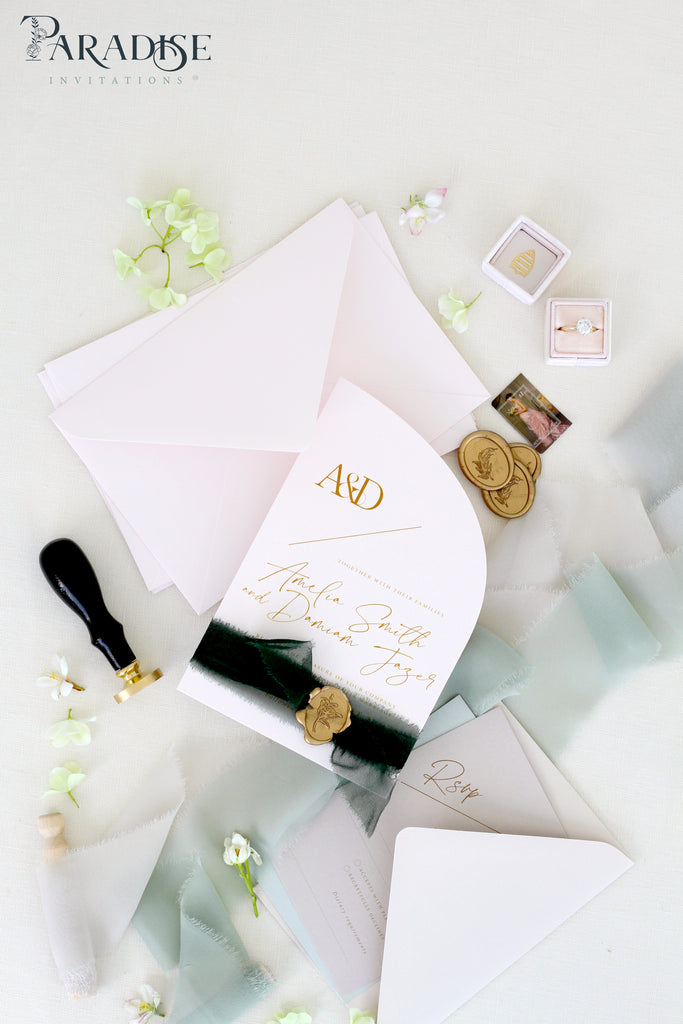 Gloria Half Arch Wedding Invitation Sets