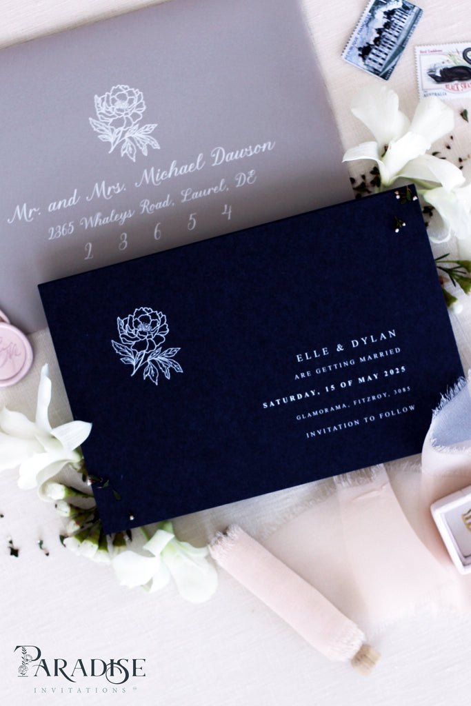 Sadie Navy Save the Date Cards