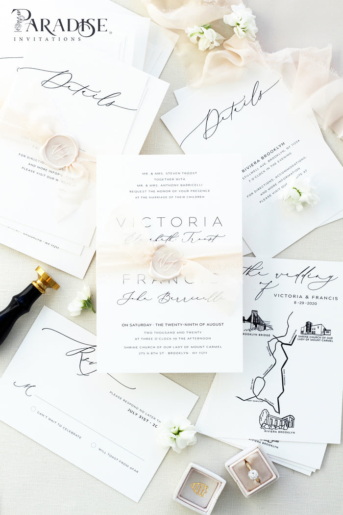 Clarissa Hand Drawn Wedding Invitation Sets