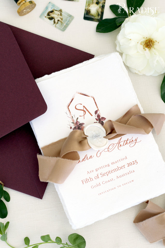 Elora Handmade Paper Save the Date