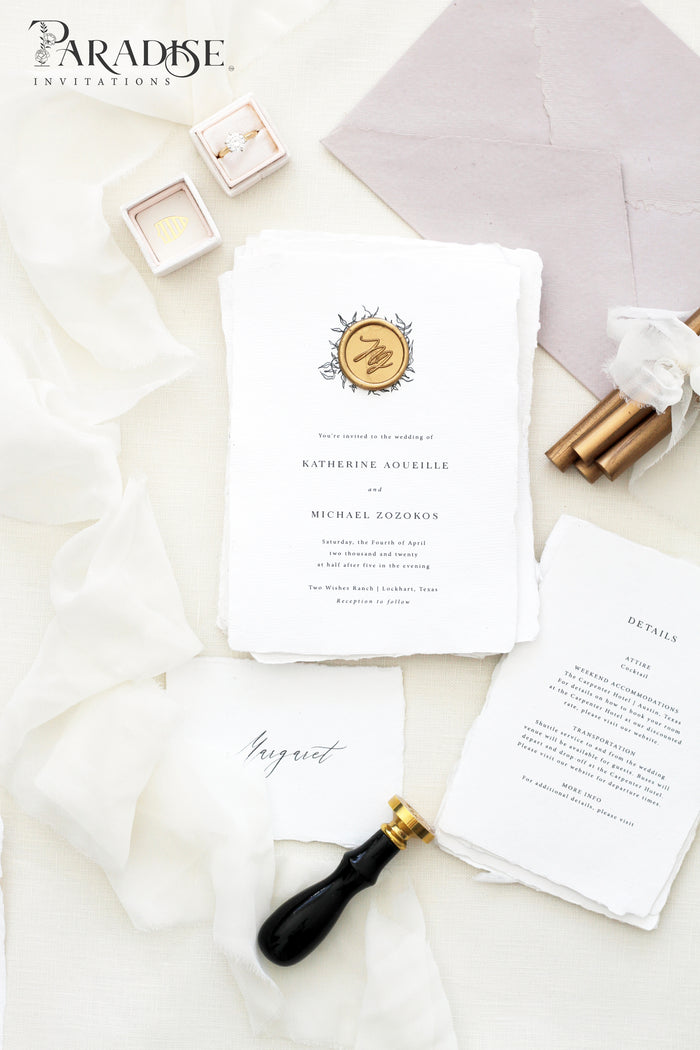 Christelle Handmade Paper Wedding Invitation