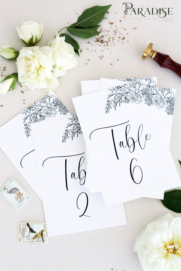 Addilyn Calligraphy Table Numbers