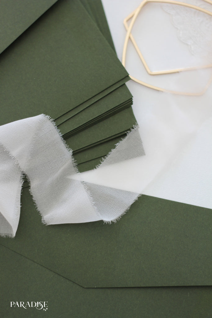Forest Green Envelopes