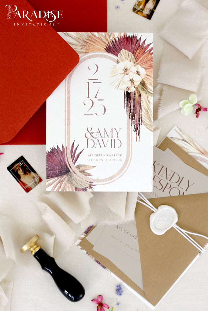 Larissa Bohemian Save the Date Cards